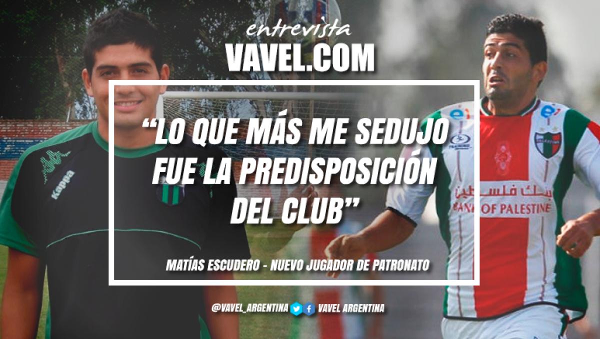 """Entrevista. Matías Escudero: """"Siempre tengo las mejores expectativas cuando empiezo un proyecto nuevo"""""""