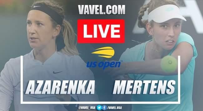 US Open: Victoria Azarenka vs Elise Mertens Live Score and Stream updates (2-0)