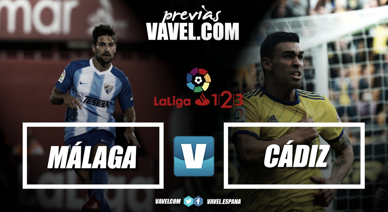Previa Málaga CF - Cádiz CF: duelo por el ascenso