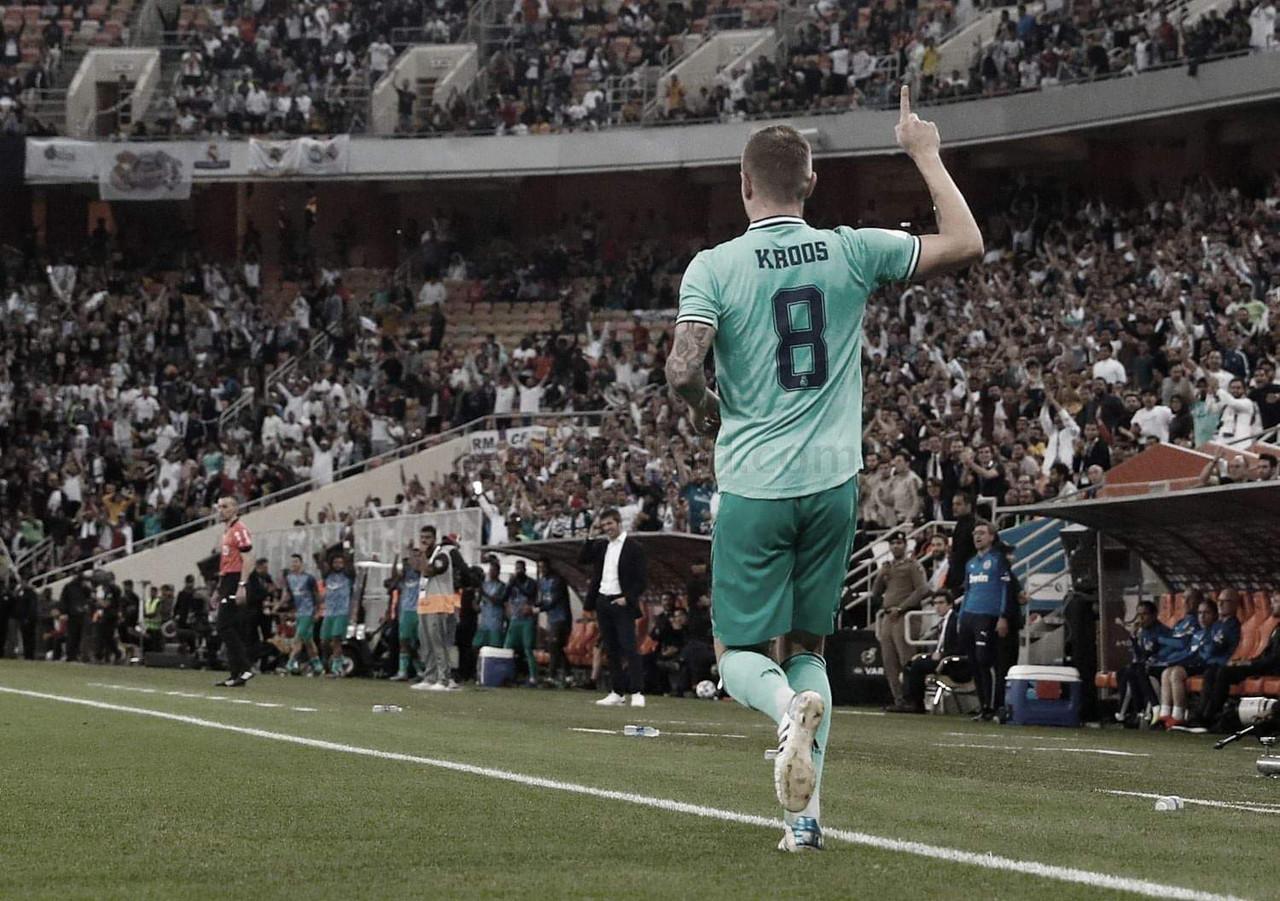 Toni Kroos, 'olímpico' en la Supercopa de España
