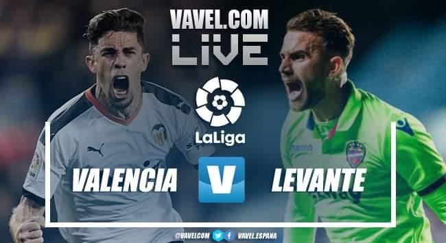 Resumen Valencia 1-1 Levante en LaLiga Santander 2020