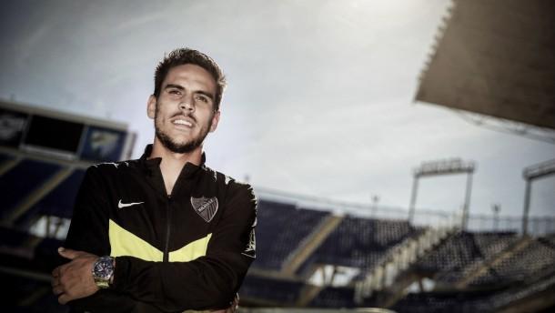 Recio, un lustro en la élite profesional como futbolista del Málaga