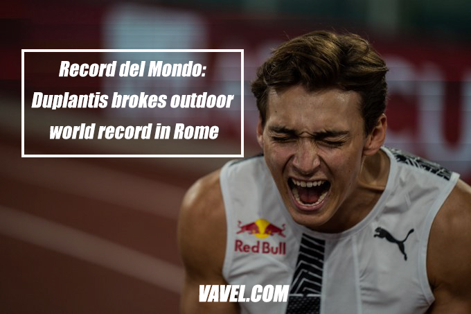 Record del Mondo: Duplantis breaks outdoor world record in Rome