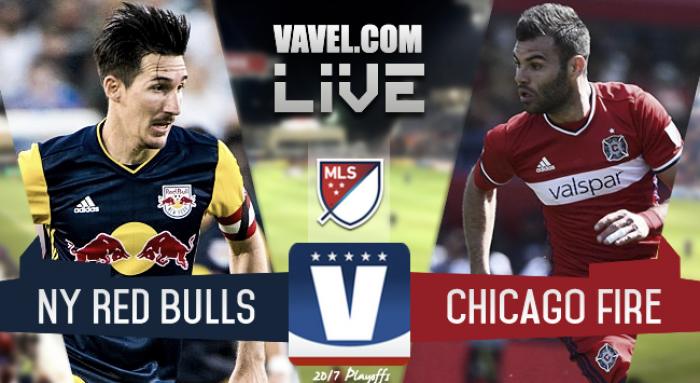 Result and Scores of Chicago Fire 0-4 New York Red Bulls in the Audi 2017 MLS Cup Playoffs