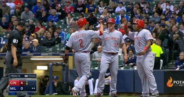 Cincinnati Reds Overpower Milwaukee Brewers 6-1, Jonathan Lucroy Fractures Toe