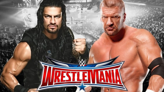 Triple H-Roman Reigns Match Now No Disqualification
