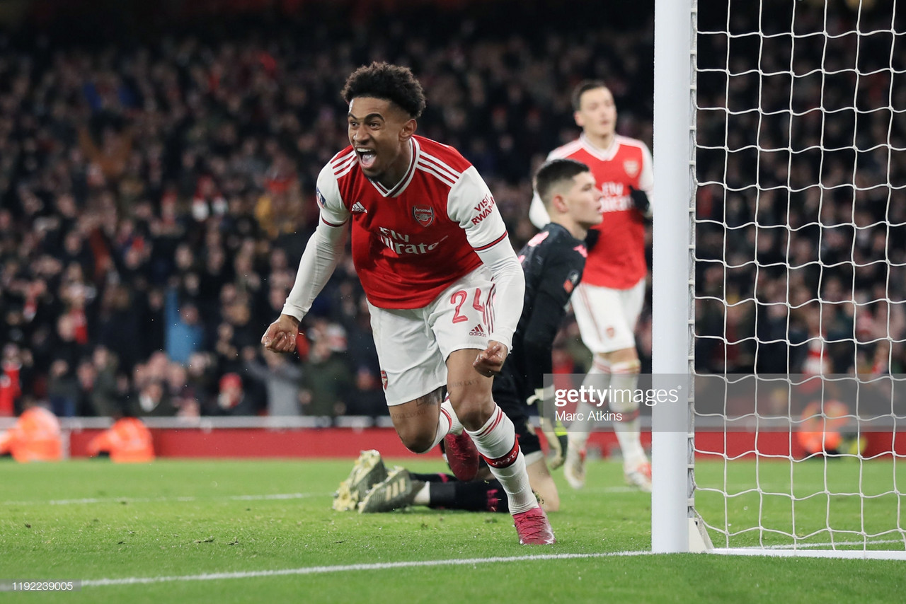 Arsenal boss Mikel Arteta: Reiss Nelson has potential to go far if he challenges himself