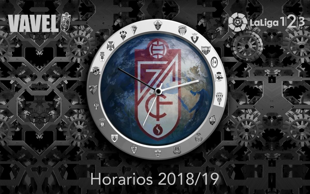 Calendario completo Granada CF, temporada 2018/2019