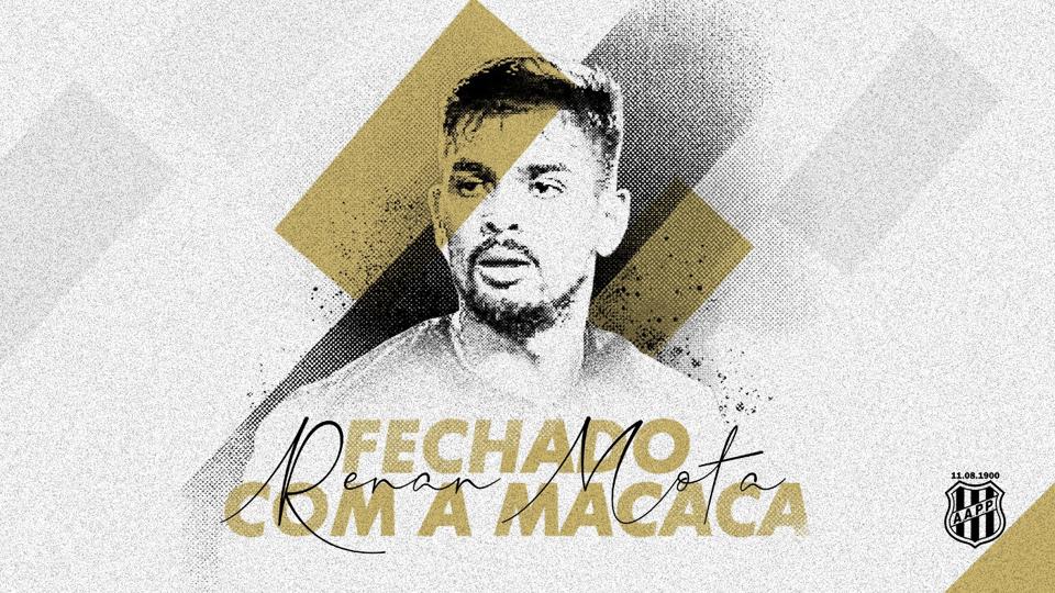 Renan Mota comemora retorno ao futebol brasileiro e projeta temporada na Ponte Preta