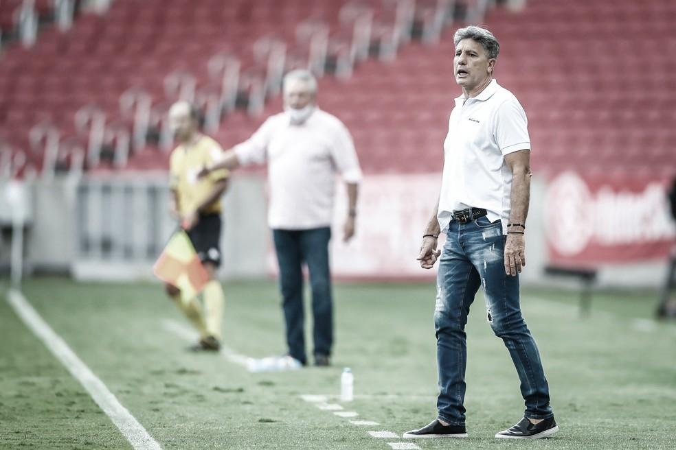 Renato Portaluppi em Internacional 2 a 1 Grêmio (Foto: Divulgação / Grêmio FBPA)