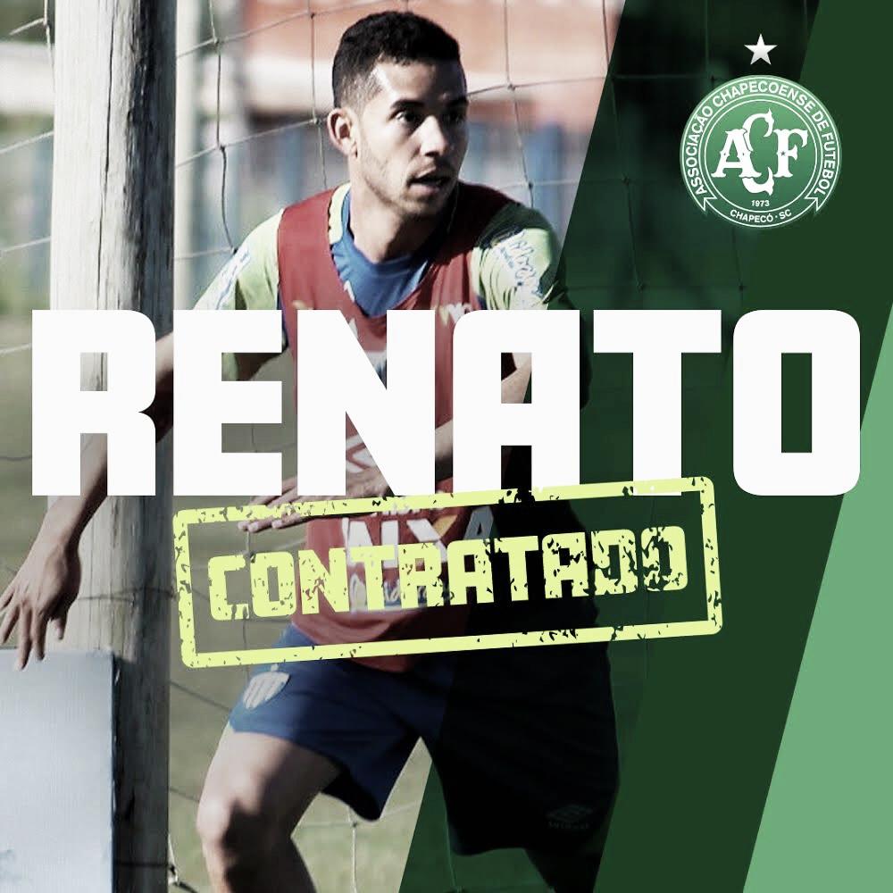 Renato é o primeiro reforço da Chapecoense para 2019