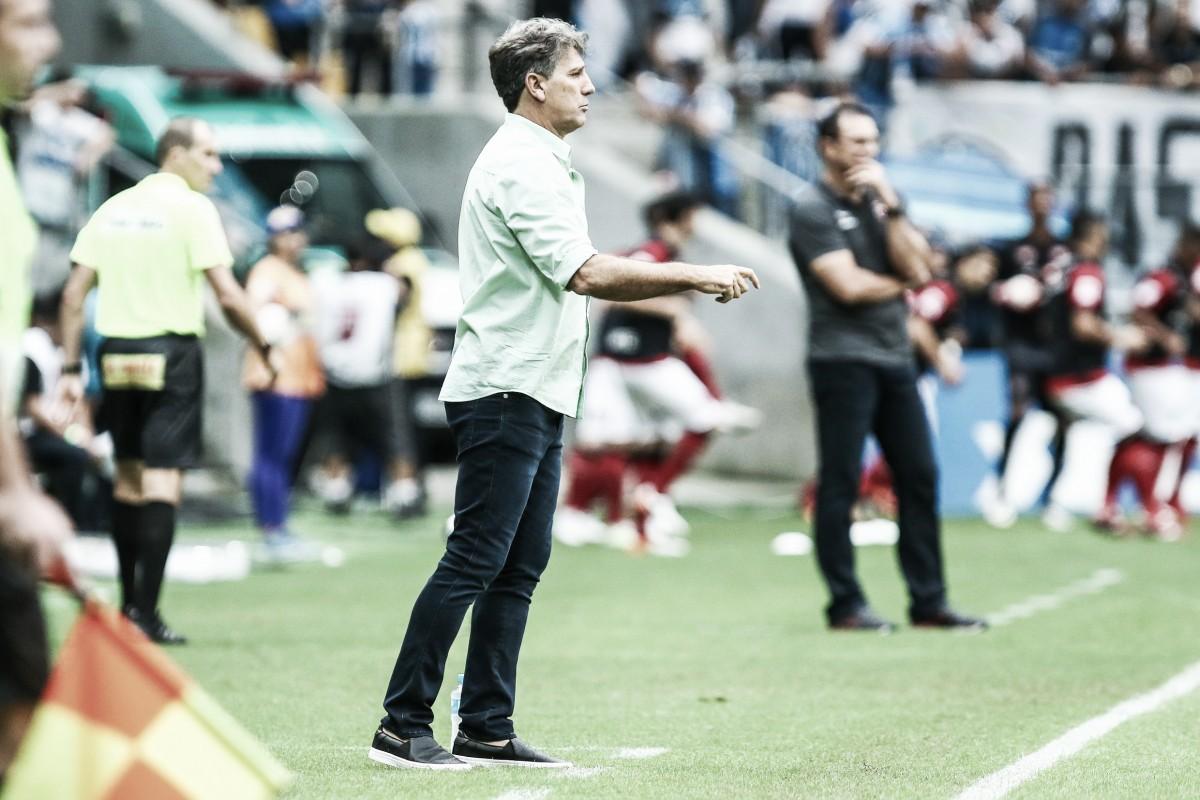 """Apesar da vantagem de quatro gols, Renato Portaluppi ressalta: """"o Grêmio ainda não é campeão"""""""