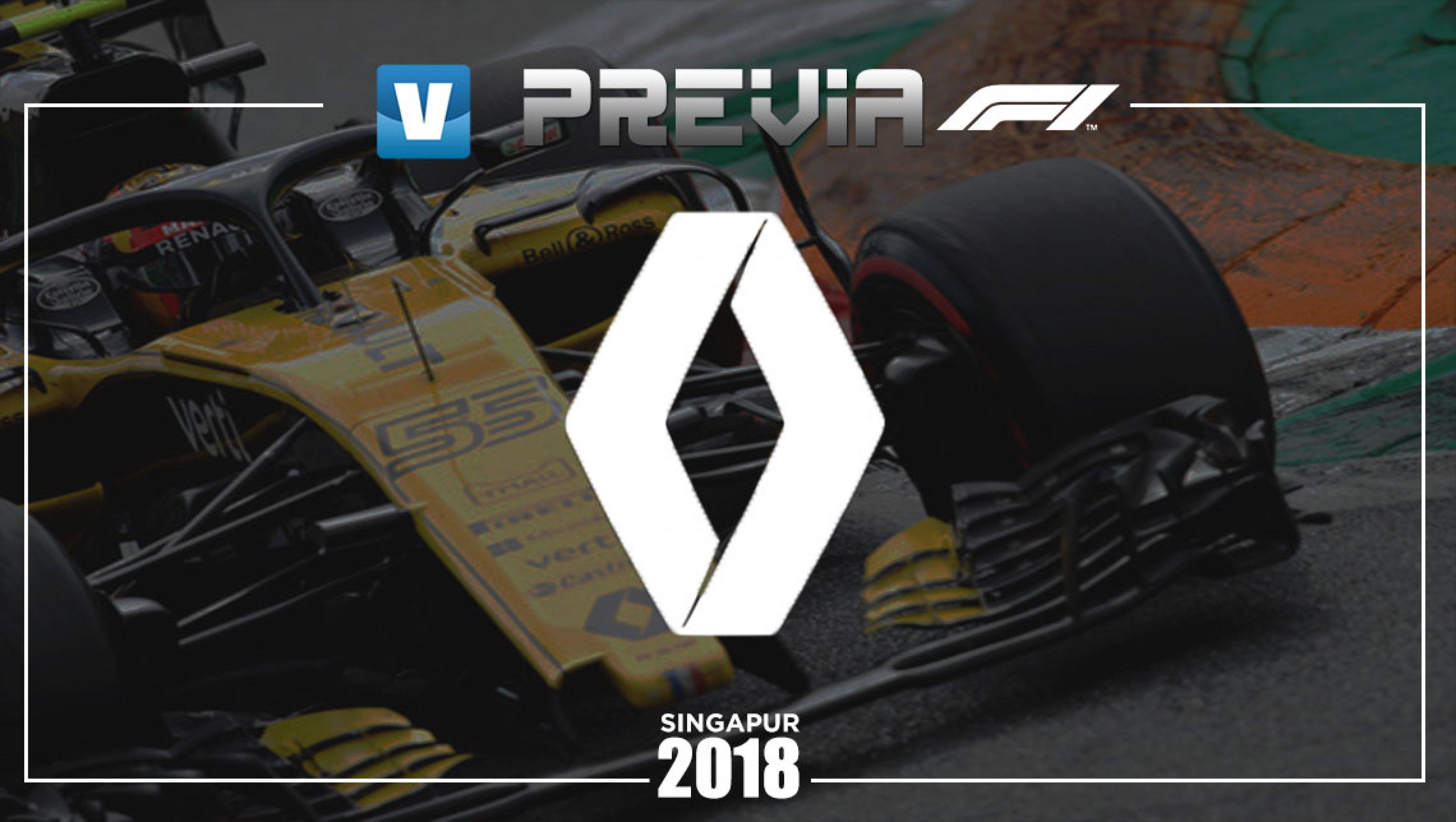 Previa de Renault en el GP de Singapur 2018: confianza para conseguir un buen resultado