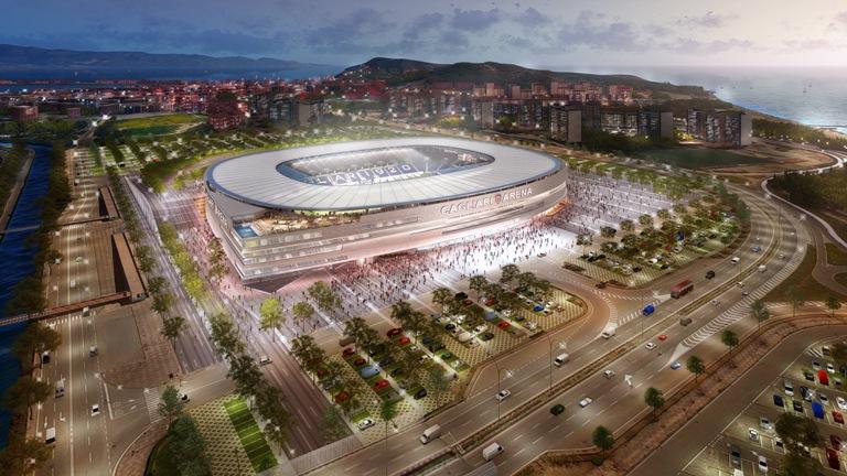 Cagliari - Il nuovo stadio è sempre più vicino
