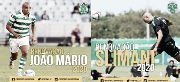 Sporting: João Mário e Islam Slimani renovam com os Leões até 2020