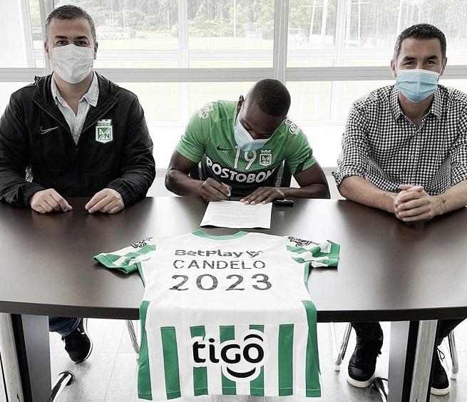 Yerson Candelo y una buena noticia para Atlético Nacional: renovó su contrato hasta finales del 2023