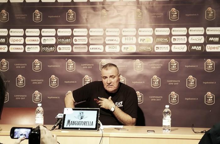 Basket, serie A: Betaland Capo d'Orlando-EA7 Emporio Armani Milano, le reazioni dei coach