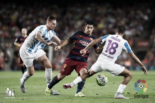 El Málaga dejó en 282 la racha de minutos sin recibir gol del Barça