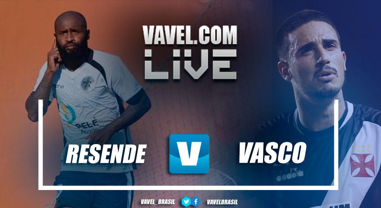 Resultado e gols de Resende x Vasco pela Taça Rio (0-2)