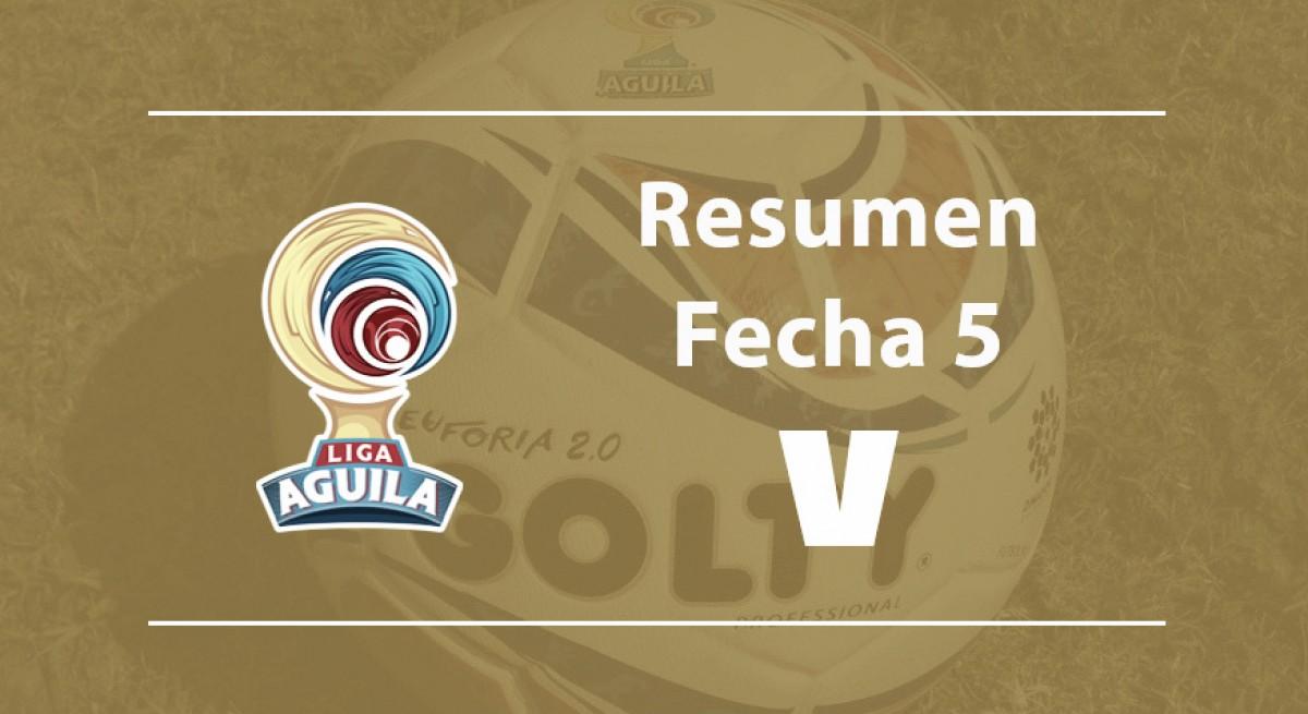 Fecha 5 de la Liga Águila: Once Caldas toma el liderato y varios equipos despertaron