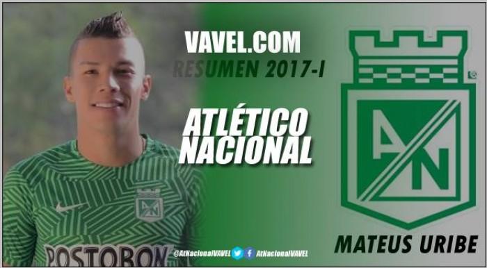 Resumen 2017-I Atlético Nacional: Mateus Uribe, el 'todero' en el equipo 'verde'