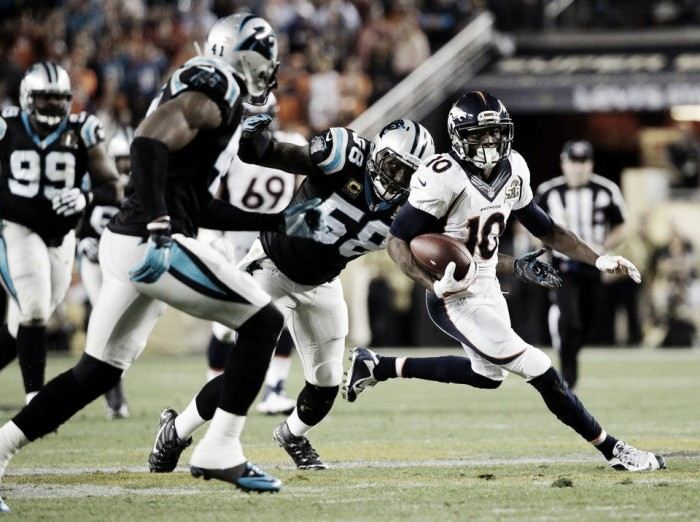 Reeditando último Super Bowl, Denver Broncos encara Carolina Panthers no retorno da NFL