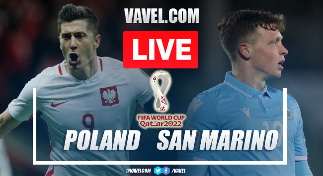 Goals and Highlights: Poland 5-0 San Marino in 2022 World Cup Qualifiers