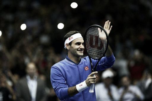El primer partido de la gira fue para Federer