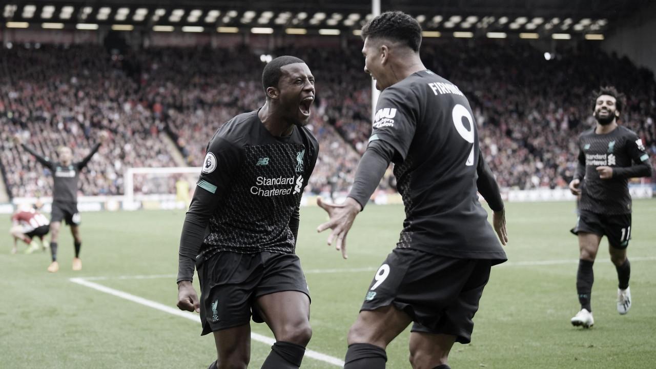 El Liverpool consigue el pleno de victorias en Sheffield