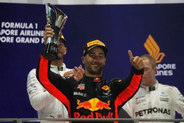 """Gp di Singapore, delusione Ricciardo: """"Triste per non essere riuscito a vincere"""""""