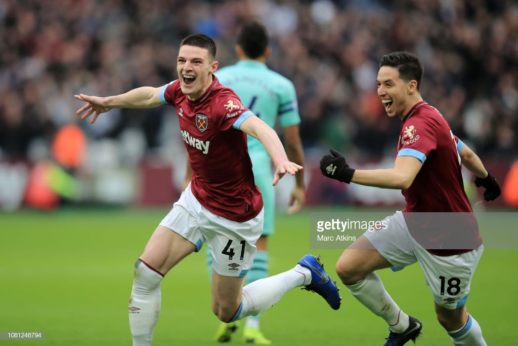 West Ham 1-0 Arsenal: Ozil missing as Gunners fall to rare defeat against Hammers