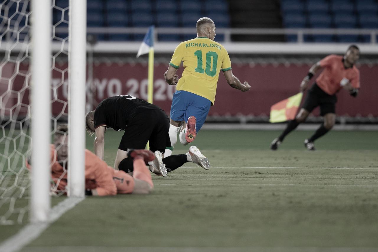 Pombo faz Brasil voar! Richarlison marca três contra Alemanha na estreia de Tokyo 2020