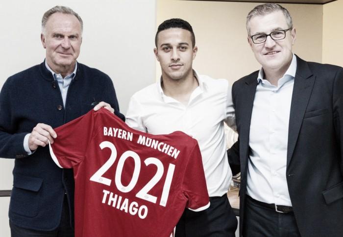 Bayern, arriva il rinnovo di Thiago Alcantara fino al 2021