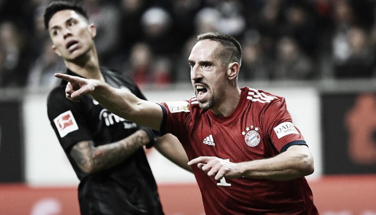 Ribéry marca dois, Bayern goleia Frankfurt e assume vice-liderança da Bundesliga