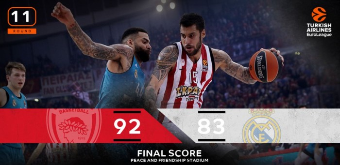 Turkish Airlines Euroleague: spettacolo al Pireo, Doncic si arrende a Printezis