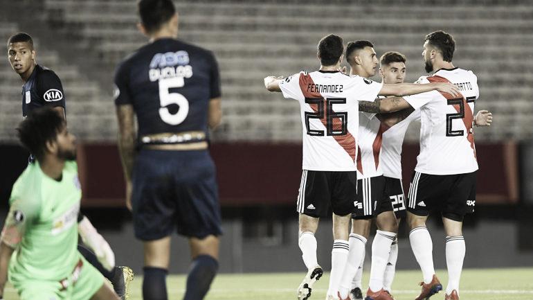 """""""Triple G"""" en la primera victoria de River en la Copa"""