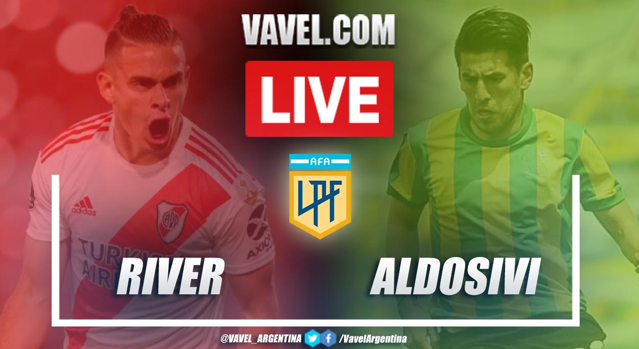 Resumen River vs Aldosivi (4-1) en la fecha 13 por Copa de la Liga Profesional 2021