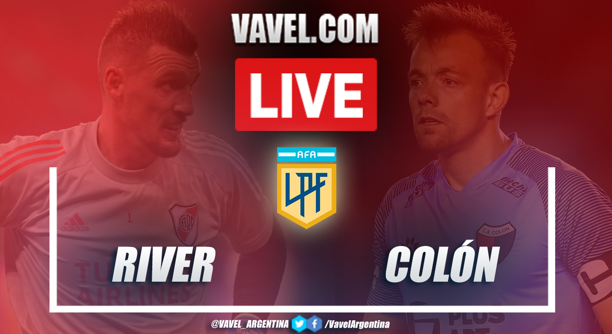 Resumen River vs Colón (3-2) en la fecha 9 por Copa de la Liga Profesional 2021