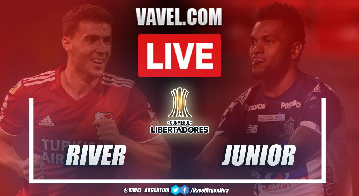 Resumen River vs Junior (2-1) en la fecha 2 del grupo D por Copa Libertadores 2021
