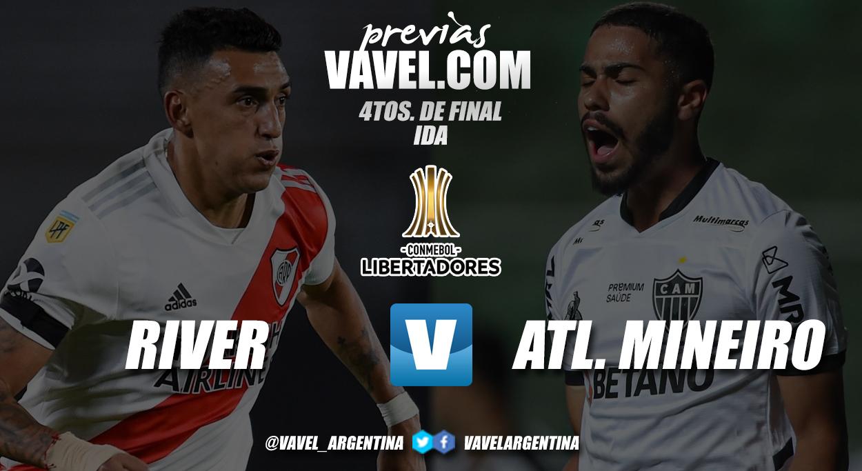 Previa River Plate vs Atlético Mineiro: primer choque buscando las semifinales