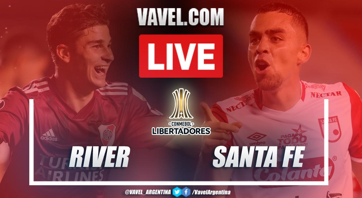 Resumen River vs Santa Fe (2-1) en la fecha 5 del grupo D por Copa Libertadores 2021