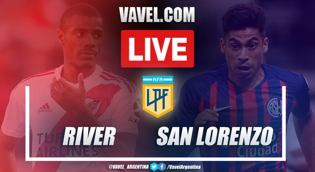 Resumen River vs San Lorenzo (1-2) en la fecha 11 por Copa de la Liga Profesional 2021