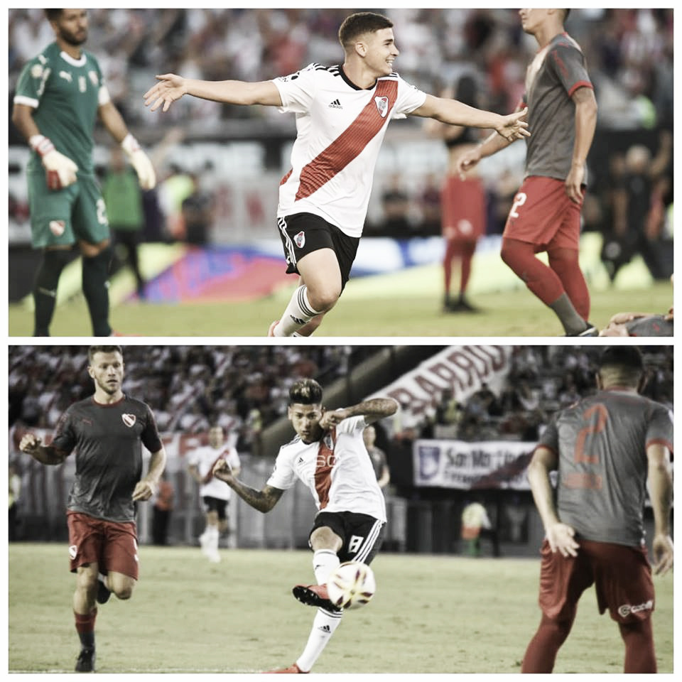 Debut por duplicado: Carrascal en sociedad y Álvarez con el gol
