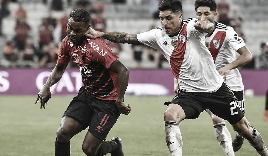 Enzo Pérez en la ida de la Recopa Sudamericana 2019. FOTO: ANTENA 2