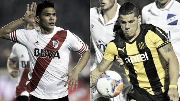 Resultado River Plate - Peñarol por la Copa Bandes 2015 (1-1)