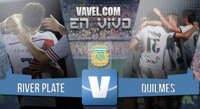 Resultado River Plate - Quilmes en la Liga 2016 (5-1)
