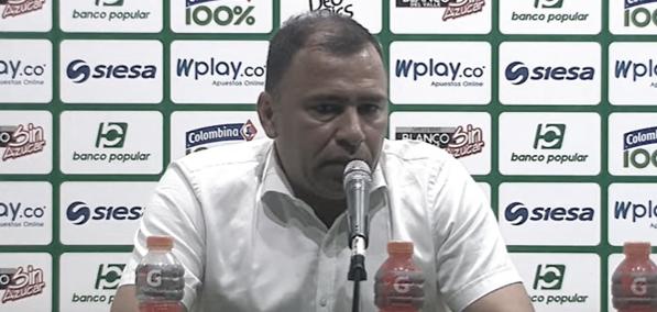 """Harold Rivera: """"El partido lo perdemos en el primer tiempo, no fuimos efectivos en 'contras' que tuvimos y donde hemos sido fuertes"""""""