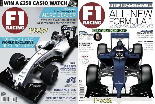 Prime immagini della Williams FW37 2015 svelate sulla rivista F1 RACING