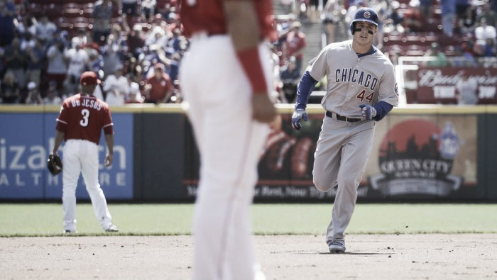 Anthony Rizzo's two homeruns propel Chicago Cubs to a 9-0 win