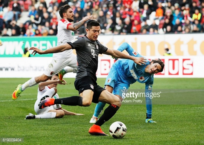 FC Augsburg 1-3 Bayern Munich: Lewandowski and Robben star in routine win